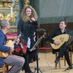 La Galania - Pierre Pitzl, Raquel Andueza et Jesus Fernandez Baena (répétition)