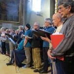 """dans le cadre de La Traverse, Concert """"Valloire enchanté"""", choristes (répétition)"""