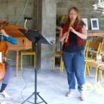 dans le cadre de La Traverse, l'Ensemble Watteau (répétition à La Scierie de Benoît)